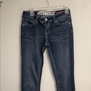 Hydraulic Lola Curvy Skinny Jeans Rinestones  9/10